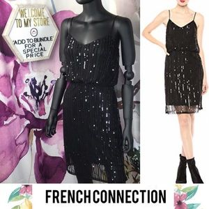 FRENCH CONNECTION Stunning Sequin Party Dress